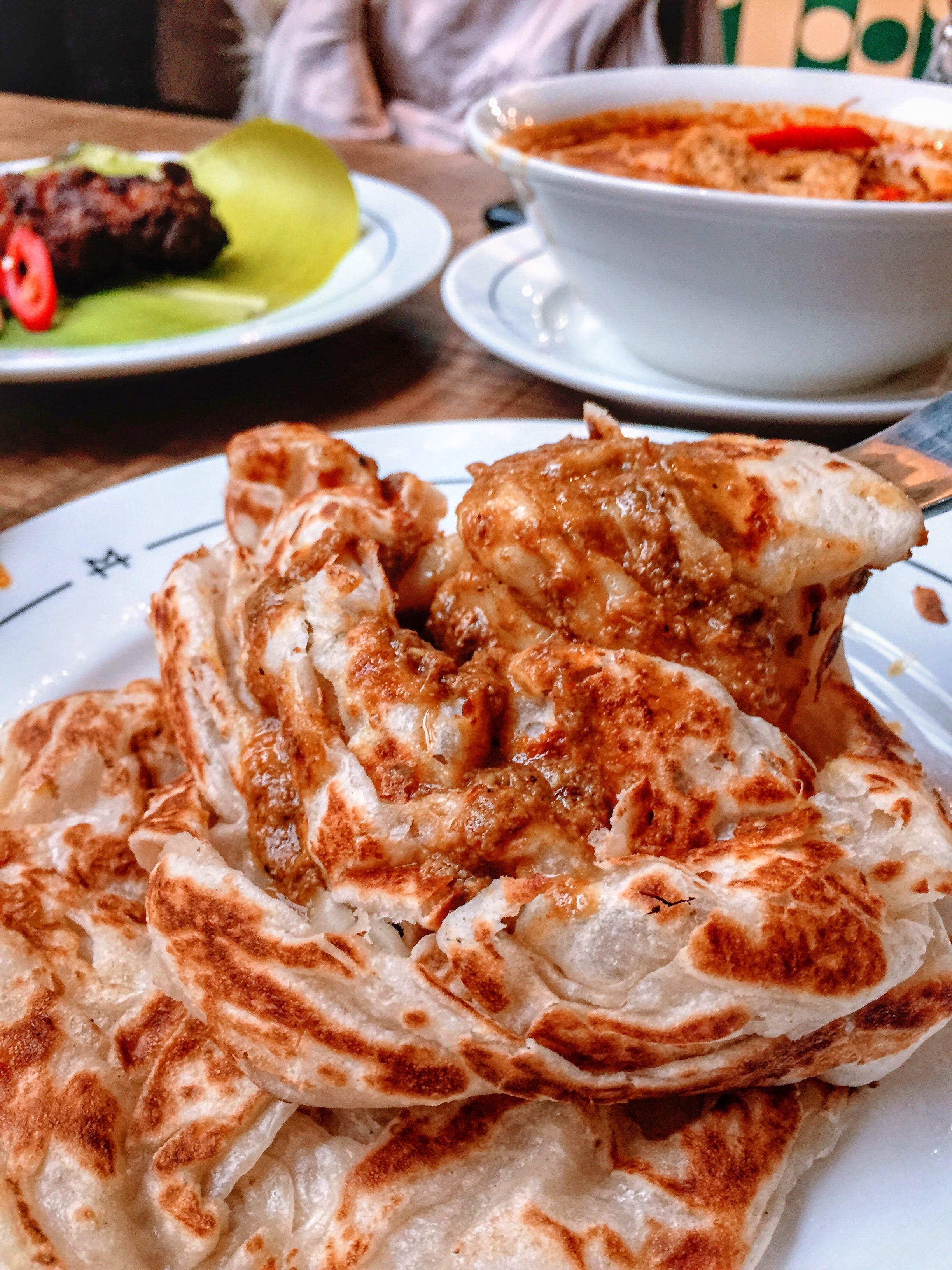 Roti Canai Beef Rendang